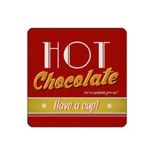 40pcs/set Red coaster with hot chocolate custom Home Table Mat Bakery Creative Decor Drink Placemat cork square cup mat 10x10cm