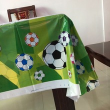 108cm*180cm 1pcs Football tablecloth party supplies plastic tablecover for kids boy children's birthday Party festival