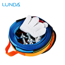 5M 8 Tons Tow Cable Tow Strap Recovery Car Towing Rope With Hooks High Strength Nylon For Heavy Duty Car Emergency with Gloves(China)
