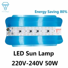 LED Sun Lamp 50W 220V-240V Full Waterproof Energy Saving 80% For Construction Site Indoor and Outdoor Decoration Cold White(China)