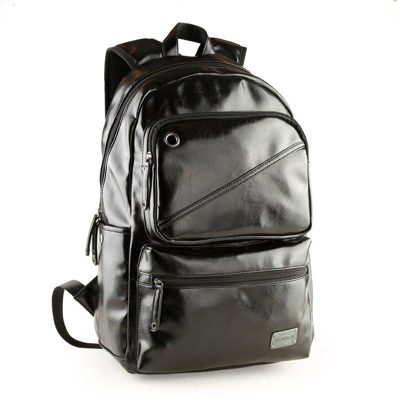 Leather Backpack Men Mochila Masculina Laptop Travel Bag Vintage Shoulder Bag 2017 Rucksack Bagpack<br><br>Aliexpress