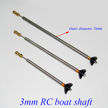 Buy Free 3mm RC Boat Shaft Set 100/150/200/250mm Motor Drive Shaft Coupler Propeller Screw Drive Dog Spare Parts for $11.99 in AliExpress store