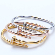 TYME 316L stainless steel Brand Love Nail Bracelet for Men and Women cuff bracelets Femme Pulseira Feminina Masculina