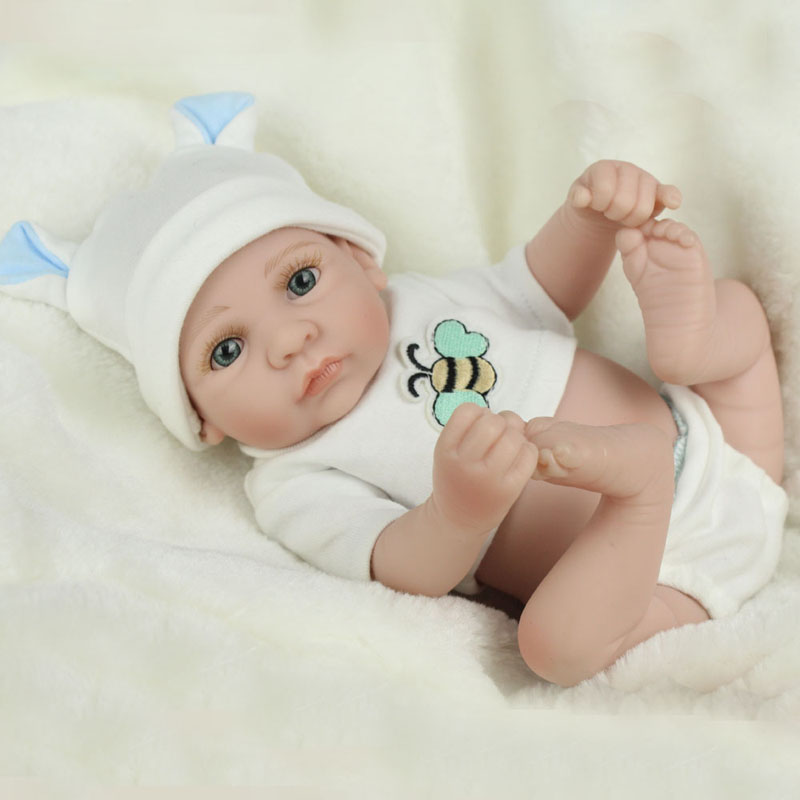 10inch Soft Full Body Silicone Baby Reborn Doll 28cm Vinyl Doll Lifelike Realistic Baby Dolls Infant Dolls For Girls Toys Gift<br><br>Aliexpress