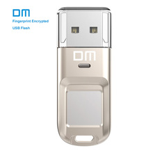 Free shipping DM PD065 32GB 64GB High-speed Recognition Fingerprint Encrypted Pen Drive Security Memory USB Stick(China)