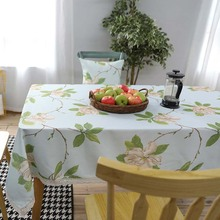New American Village Flowers Lace Tablecloth Fresh Plant Waterproof Polyester Table Cloth Home Wedding Party Toalha de mesa(China)