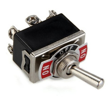 hot sale new 12V Car Boat DPDT Heavy Duty Metal Tip Toggle ON/OFF Dash Light Flick Switch High Quality