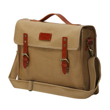 Tourbon Outdoor Travelling Bicycle Bike Pannier Rear Seat Bag Rack Trunk Waterproof Canvas Briefcase Vintage