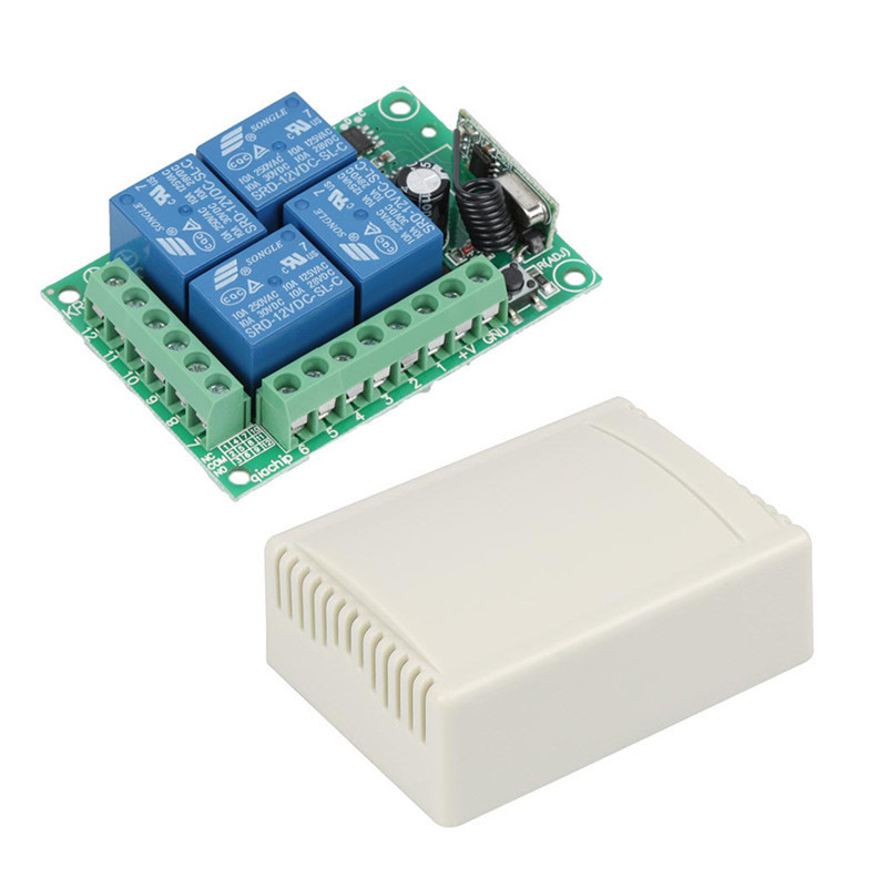 QIACHIP-433Mhz-DC-12V-4-CH-RF-Relay-Wireless-Remote-Control-Switch-Receiver-Module-a - (5)