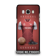 Custom ARSENAL Jersey Cover Case for Samsung A3 A5 A7 A8 A9 J1 Ace mini J2 J3 pro J5 J7 2016 Core Grand Prime Neo Plus alpha(China)