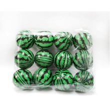 Rubber Ball Watermelon Sponge Elastic Fitness PU Ball for Children Indoor Outdoor Toys 75mm 12PCS Lot