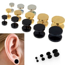 Stud Earrings Men Metal Punk Style Round Earrings Ear Accessories Fashion Trendy Simple Cool Male Earring Brincos homme Y2