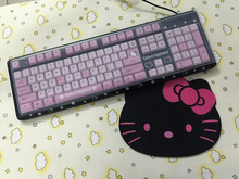 MAORONG TRADING Hello Kitty laptop waterproof keyboard computer thin cartoon cute girl USB wired KT cat game keyboard(China)
