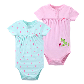 Mother Nest Bébé Body 2 PCS/Lot Mignon de Bande Dessinée Styles Infantile Salopette Fille Prochain Bébé Clothing Bébé Fille Body Bébé Vêtements