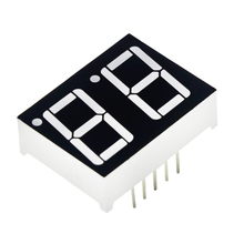 0.56inch 7 Segment 2bit Digital Tube Red Common Cathode LED Digit Display 0.5inch 0.5 0.56 inch 0.56'' 0.56in. two 2 bit