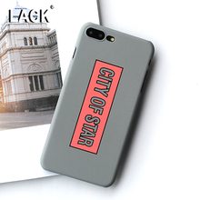 Buy LACK Phone Case iphone 7 Case Fashion Letter CITY OF STAR Cover Funny Cartoon Hard PC Capa Cases iphone 7 Plus Coque for $1.51 in AliExpress store