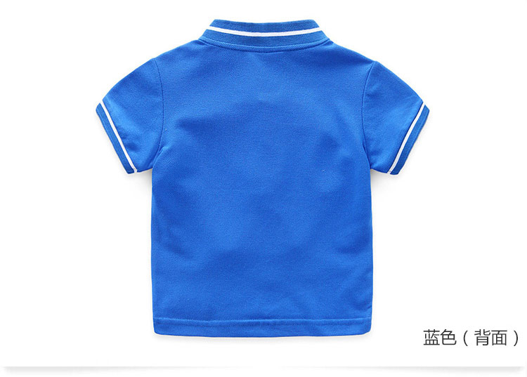 Boys Clothes 2018 Hot Summer Novelty Cotton Cartoon Elephant Print Short Sleeve Mandarin Collar T Shirt Kids Boys (6)