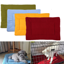 Breathable Dog Bed Mat Cover Small Puppy Blanket Dog Puppy Bed Mat Soft Cotton Warm Dog Pad Puppy Bed Goods for pets(China)