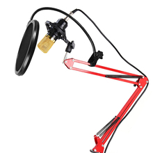 New USB Condenser Sound Recording Microphone with Adjustable Metal Scissor Arm  Stand Holder Mic Wind Screen Pop Filter