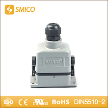 SMICO HDD024 10A rectangular insert IP65 waterproof top entry hood whole set 24 pins heavy duty connector with UL certificate(China)