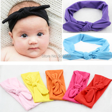 New hot Baby Girl Cotton Headwrap Bow Knot Headband for children Baby Hair Accessories Fashion Hairband 10pcs/lot free shopping