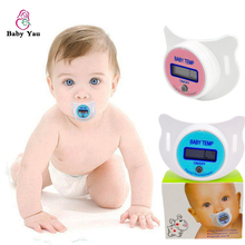 1PCS Baby LCD Digital Thermometer Baby Nipple Pacifier Mouth Termometro Testa Infantil Chupete Termometro Baby Thermometer
