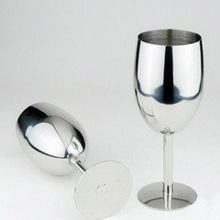 New Fashion High-end Atmosphere Brilliant Stainless Steel Wine Glass Wine Tasting Goblet My Bottle My Bootl Mug Cup Beer Copos(China)