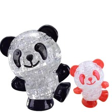 Chidrren Educational Toys Cute Panda 3d Crystal Puzzle Jigsaw Panda Model montessori educational Toys  FL