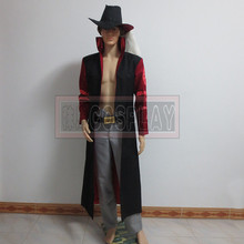 One piece Cosplay Dracule Mihawk Hawk-Eye Mihawk cosplay costume with hat