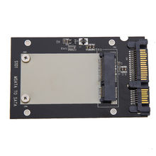 "Black Mini pcie PCI-E mSATA SSD to 2.5"" SATA3 Convertor Adapter Card 50 x 30 mm SSD Case Supports For Windows Vista Linux Mac 10"