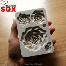 5 kinds of styles 3D rose silicone mold, silica gel mold, silicon candle molds, silicone mold custom wholesale SQ16327