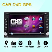 Wireless Camera is included ! 6.2-inch Car DVD Player Double DIN Bluetooth Gps Navigation for Universal Car Free Backup Camera(China)