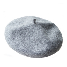 Fashion French Style Women Wool Beret Hat Winter Classic Solid Color Artist Beanie Caps for Ladies(China)
