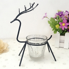 European Romantic Candlestick  Simple Wind Lamp  Decoration Decoration Christmas Elk Candlestick Lover Gift Creative Christmas