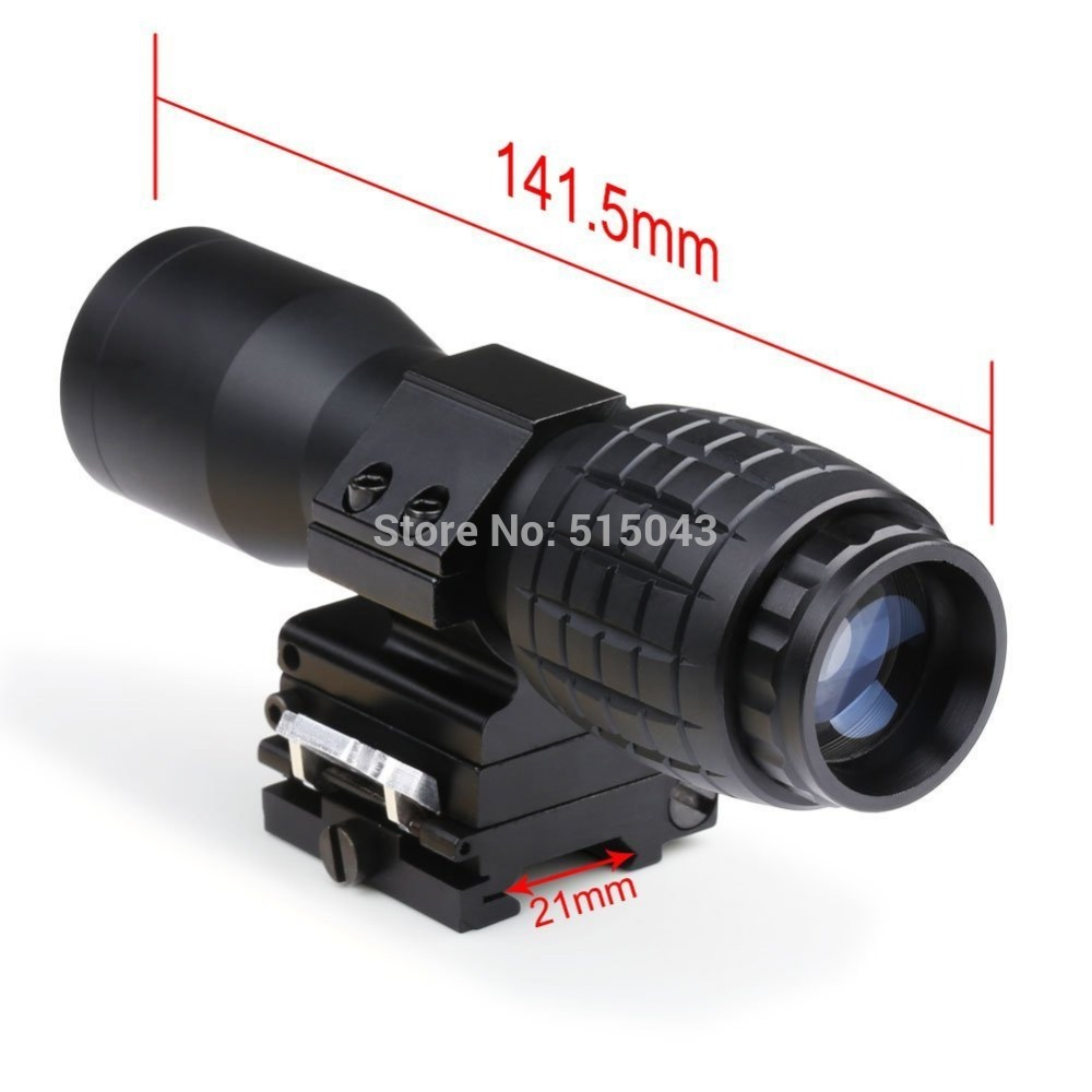 4X Magnifier With FTS Flip to Side Mount for Scopes Sights<br>