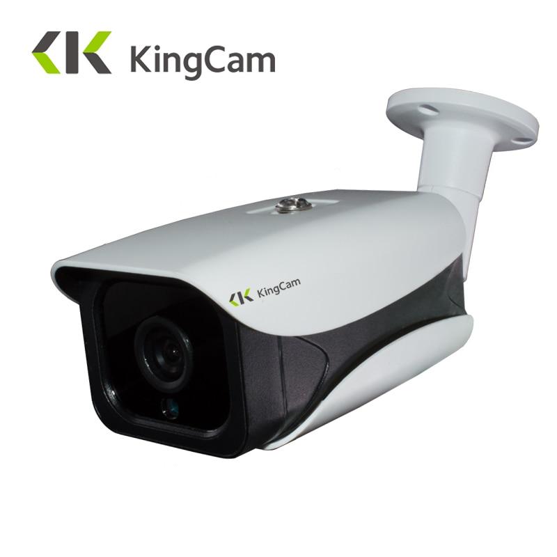 KingCam 48V POE Waterproof Outdoor Bullet IP Camera 1080P Security CCTV ONVIF Network Aluminum Metal CCTV Surveillance Camera  <br>