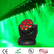 (1 pieces/lot) LED Moving Head Wash Light 12x12W RGBW 4in1 Quad Color High Power Stage DJ Disco Laser Projector DMX Party