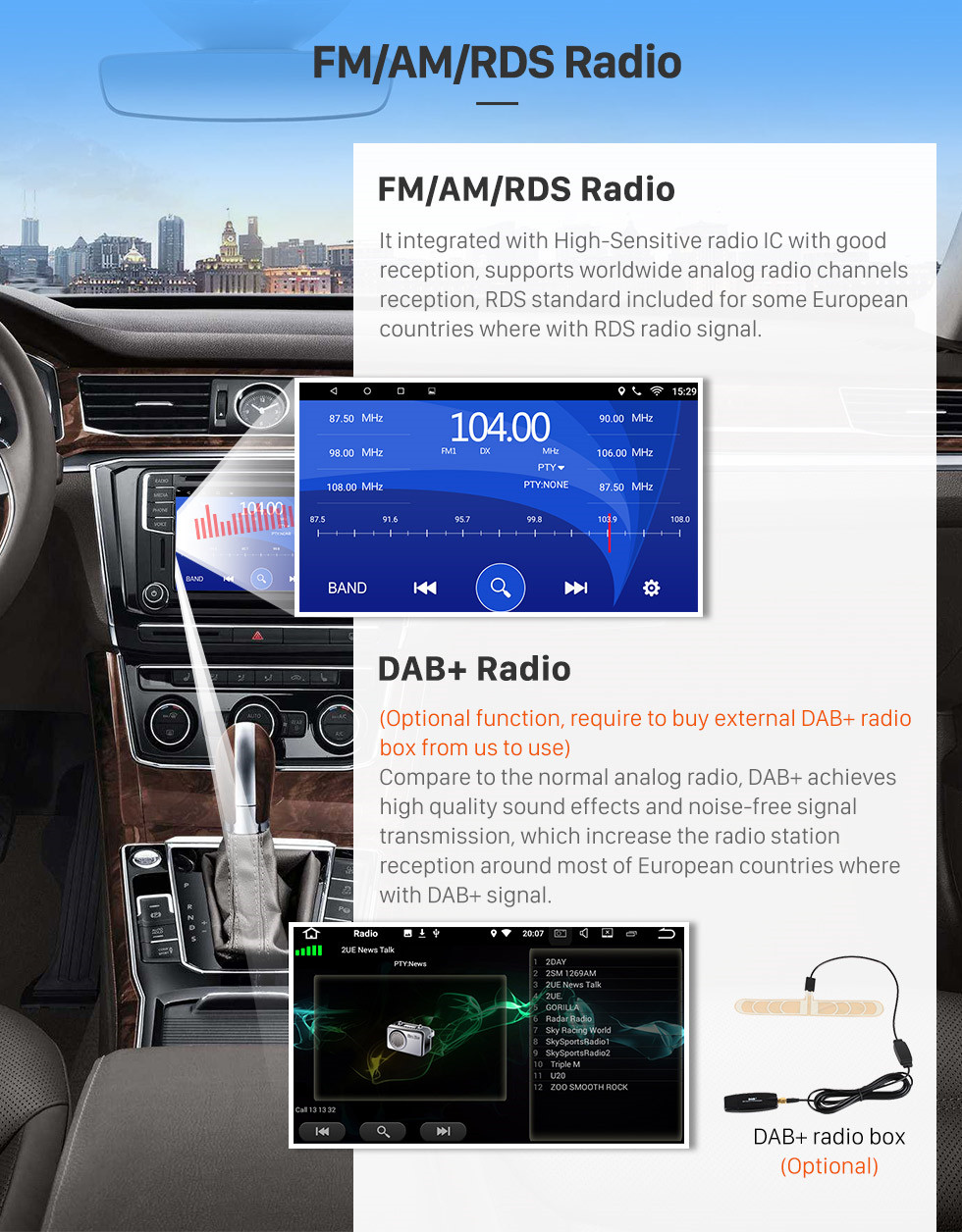 Seicane Android 6.0 9 inch 2Din Car Radio WIFI Bluetooth Quad Core Multimedia Player For 07 08 09 10 Toyota OLD Corolla 9