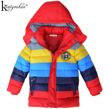 Winter Boys Jacket Fashion Kids Clothing Ultra Light Down Coats Children Down Stripe Hooded Jackets For Boys Clothes Outerwear()