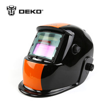 DEKOPRO Orange Stripes Solar Auto Darkening MIG MMA Electric Welding Mask Helmet for Welding Machine or Plasma Cutter