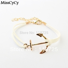 Anchor Bracelets For Women Men Fashion Charm Bracelets & Bangles Rope 8 Leather Masculina Jewelry Vintage Pulseira Mujer