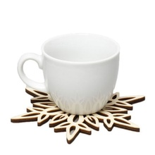 Wooden Drink Cup Mat for kitchen Coasters Carved Mug Placemat Table Cup Holders Coffee Tea Stand Under Kitchen Accessories(China)