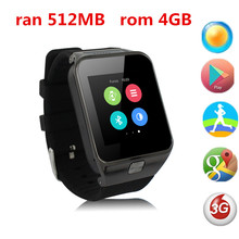 Newest Android Smart Watch Gw02 TD Screen 3G Android Smartwatch Camera WCDMA GSM Smartwatches Clock With GPS WIFI Phone Watch(China)