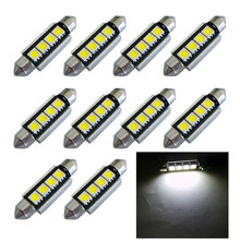 10pcs High Quality 42mm c5w 4 MD 5050 LED Canbus NO Error Free Car Interior Festoon Dome Light Auto Reading Lamps Bulb white 12V