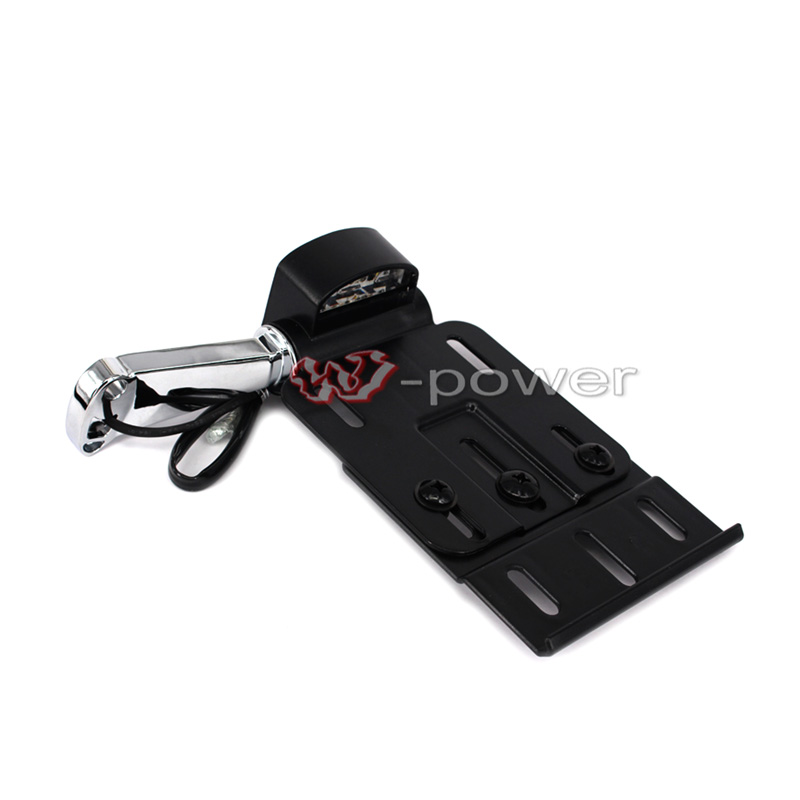 For Harley Sportster XL883 XL1200 04-16 Collapsible LED License Plate Bracket<br>