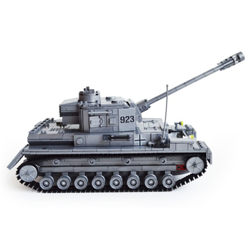 Kazi-Large-Panzer-IV-Tank-1193pcs-Building-Blocks-Military-Army-Constructor-set-Educational-Toys-for-Children (3)
