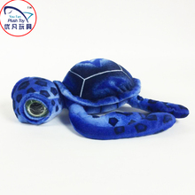 2016 innovative design plush toy stuffed sea animal turtle soft gift 60# blue color big eyed turtle decoration toy gift(China)
