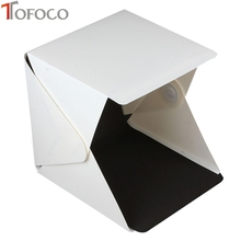 TOFOCO Mini Cube Studio Portable Light Room Photo Backdrop Box with LED Light Folding lightbox Photography Photo Studio Softbox
