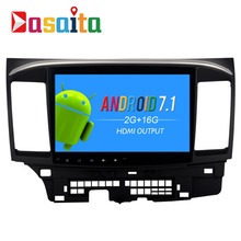 "Dasaita 10.2"" Android 7.1 Car GPS Player Navi for Mitsubishi Lancer 10 Galant with 2G+16G Quad Core NO dvd Radio Multimedia HDMI"