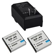 2 x Digital Batteries for Casio EX-Z30/Z40/Z50/Z55/Z57/Z750 EX-P505/P600/P700 PM200 P-40 CNP40 Camera Battery with Charger(China)